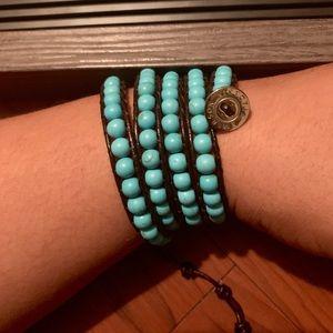Victoria Emerson boho turquoise wrap bracelet